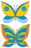 蝴蝶(向量夹子艺术) 库存照片