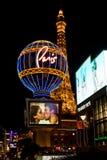 巴黎旅馆和赌博娱乐场在拉斯维加斯,美国。 库存图片