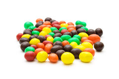 甜五颜六色的糖衣杏仁 免版税库存照片