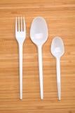 Πλαστικά μίας χρήσης μαχαιροπήρουνα Στοκ Εικόνες
