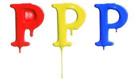 Покрасьте алфавит капания Стоковая Фотография RF