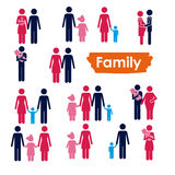 Οικογενειακά εικονίδια Στοκ Εικόνες