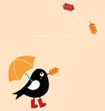 Χαριτωμένη ευχετήρια κάρτα φθινοπώρου Στοκ φωτογραφίες με δικαίωμα ελεύθερης χρήσης