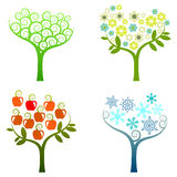 抽象树-图表元素-四个季节 库存照片