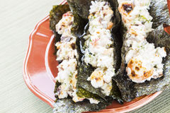 夏威夷人被烤的寿司炸玉米饼 免版税库存照片