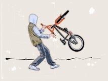骑自行车的人街道 库存图片