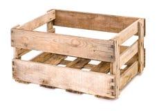 葡萄酒木酒箱子 免版税库存照片
