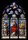 墙壁上宗教的彩色玻璃 图库摄影