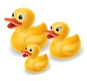 橡胶鸭子家庭 免版税图库摄影