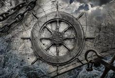 Винтажная иллюстрация предпосылки навигации Стоковые Изображения