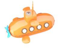 Шарж-введенная в моду подводная лодка Стоковые Фотографии RF