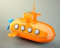 Шарж-введенная в моду подводная лодка Стоковое фото RF