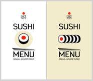 寿司菜单设计模板。 免版税图库摄影