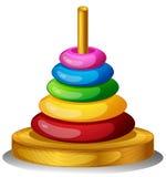 一个五颜六色的圆的玩具 免版税库存照片