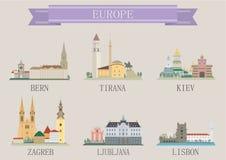 Σύμβολο πόλεων. Ευρώπη Στοκ Φωτογραφία