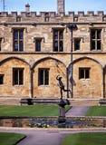 基督教会学院,牛津,英国。 库存照片