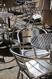 таблицы металла стулов Стоковое Изображение