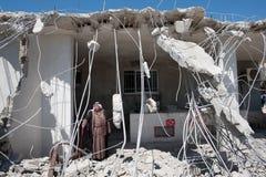 Израильское подрывание палестинского дома Стоковая Фотография RF