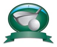 高尔夫俱乐部和球设计 图库摄影