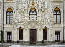 Роскошный наземный ориентир Богемия замка резиденции сказки Стоковые Изображения