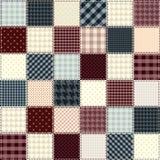 缝制的设计按棋顺序 免版税库存图片