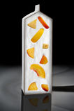 模板酸奶用桃子 免版税库存图片