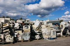 回收的电子废物 免版税库存照片
