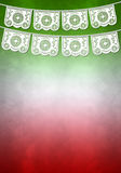 Мексиканский шаблон плаката украшения - скопируйте космос Стоковые Изображения RF