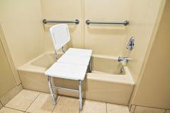沐浴椅子的障碍 库存照片