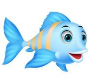 逗人喜爱的鱼动画片 免版税库存照片
