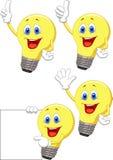 Электрическая лампочка шаржа Стоковое Изображение RF