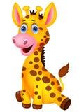 逗人喜爱的小长颈鹿动画片 库存照片