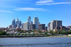 费城中心城市塔和办公楼 免版税库存图片