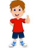 Мальчик шаржа давая вам большие пальцы руки вверх Стоковое Фото