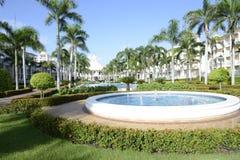 在一种热带手段的喷泉 免版税库存图片