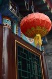 Красный китайский фонарик Стоковое Изображение