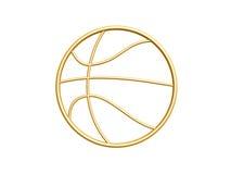 金黄篮球标志 免版税库存照片