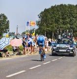 骑自行车者丹尼尔马丁 库存图片
