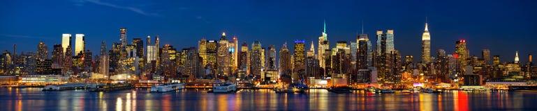 纽约夜光  免版税库存图片