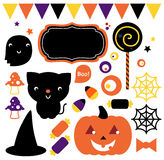 Комплект партии хеллоуина Стоковое Изображение