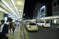 京都街道夜视图  免版税库存图片