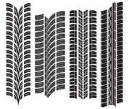 各种各样的轮胎踩 库存照片