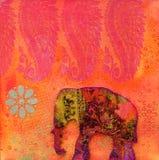 艺术品大象 免版税库存图片