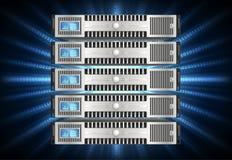 Сервер в виртуальном пространстве Стоковые Фотографии RF