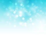蓝色假日光背景 图库摄影