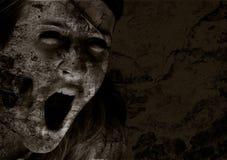 κραυγή φρίκης Στοκ Εικόνες