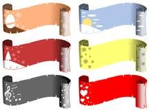 Διακοσμημένοι κύλινδροι Στοκ φωτογραφία με δικαίωμα ελεύθερης χρήσης