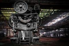 等待爆破的老,冶金企业 免版税库存照片