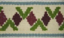 老传统罗马尼亚羊毛地毯 免版税库存照片