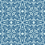 无缝的蓝色样式。 库存图片